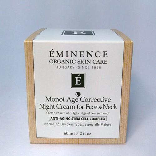Eminence Organic Monoi Age Corrective Night Cream for Face & Neck 2 oz