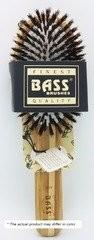 Bass Brushes Large Oval: Cushion Style, 100% Wild Boar Bristles, Beveled   Wood Handle