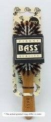 Bass Brushes Purse Size Oval: Cushion, 100% Wild Boar Bristles,  Wood Handle