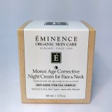 Eminence Organic Monoi Age Corrective Night Cream for Face & Neck 2 oz