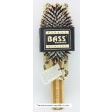 Bass Brushes Large Oval: Cushion, 100% Wild Boar/White Nylon Bristles, Beveled  Wood Handle