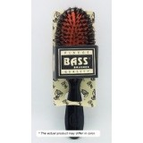 Bass Brushes Medium Oval: Cushion, 100% Wild Boar/Nylon Bristle, Black or Clear Acrylic Handle