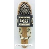 Bass Brushes Medium Oval: Cushion, 100% Wild Boar/Nylon Bristle, Wood Handle