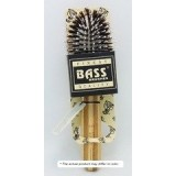 Bass Brushes Purse Size Oval: Cushion, 100%Wild Boar/White Nylon Bristles,  Wood Handle